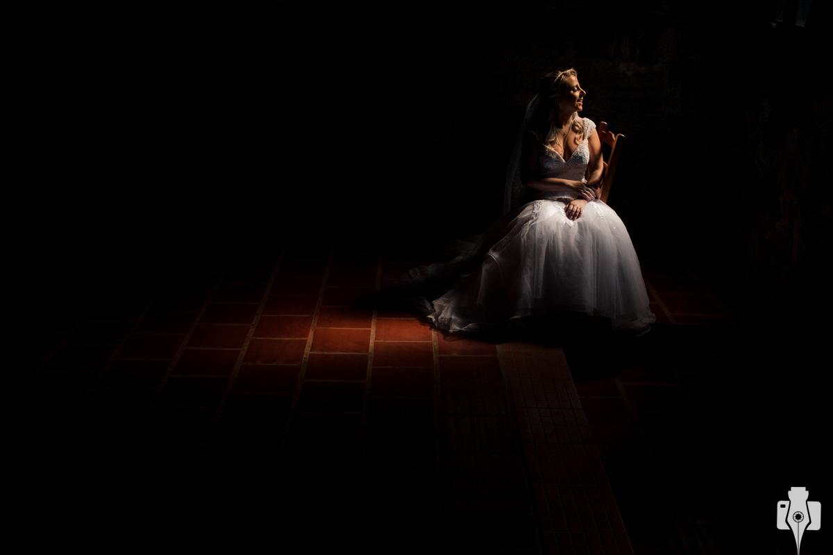 fotos de noiva em um cenário lindo