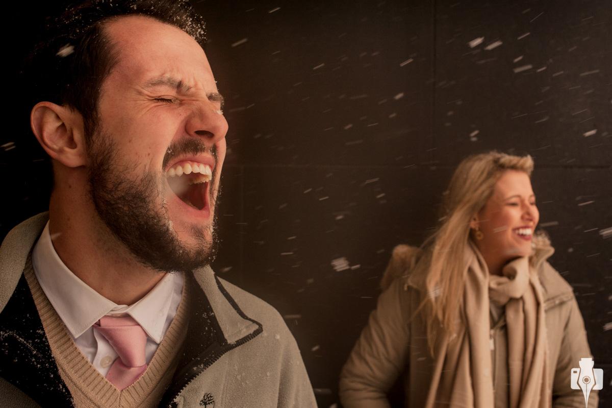 ensaio pré wedding na neve