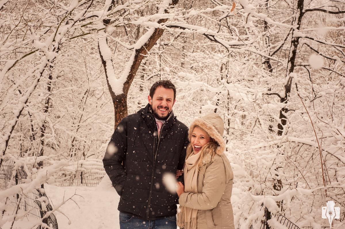 sessão fotográfica na neve