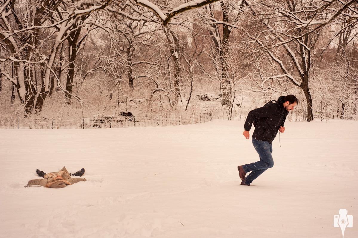 fotos brincando na neve