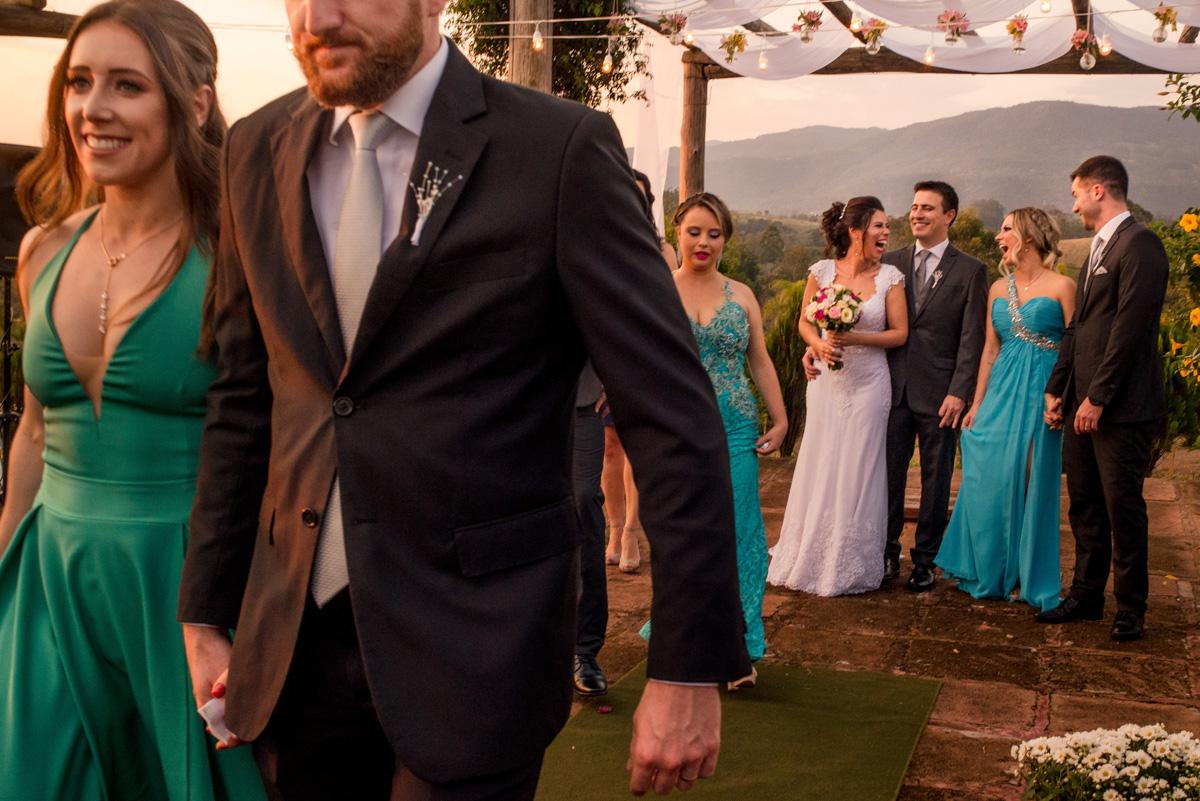 fotos de casamento ao pôr do sol