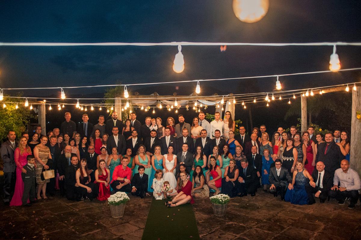fotografia de casamento a noite
