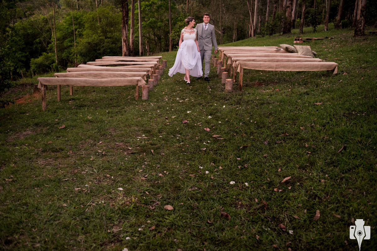 fotografia de casamento no interior