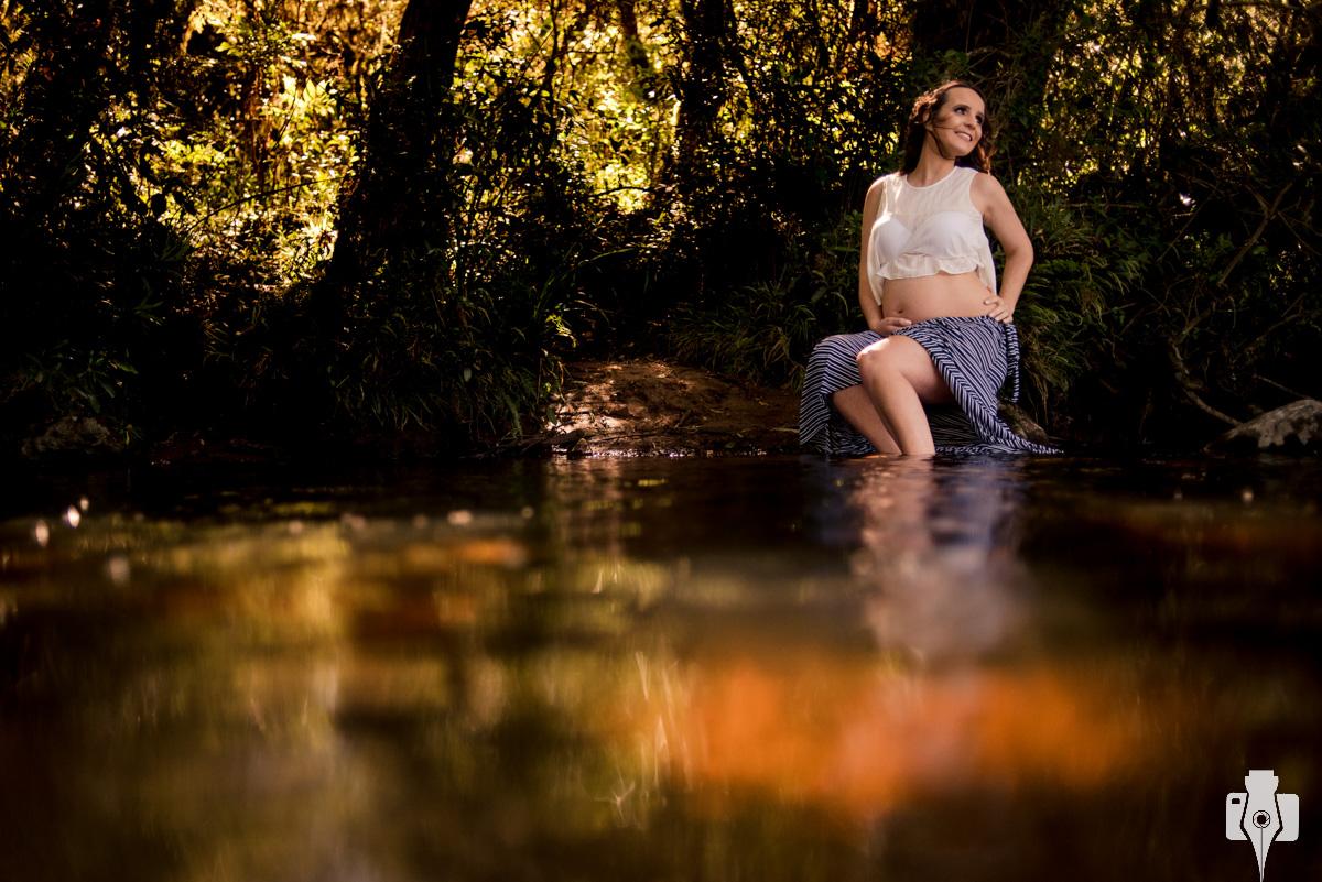 sessao fotografica de gestante na agua
