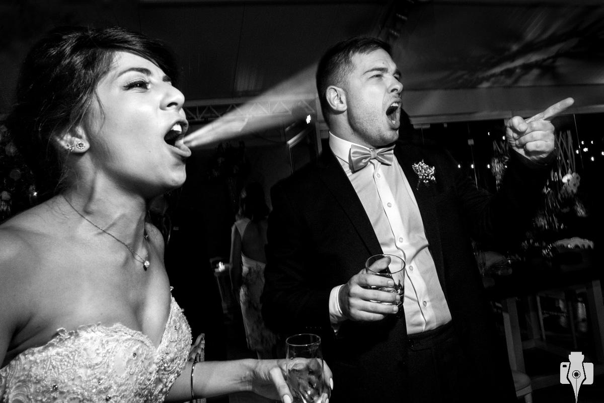 festa de casamento com banda de rock