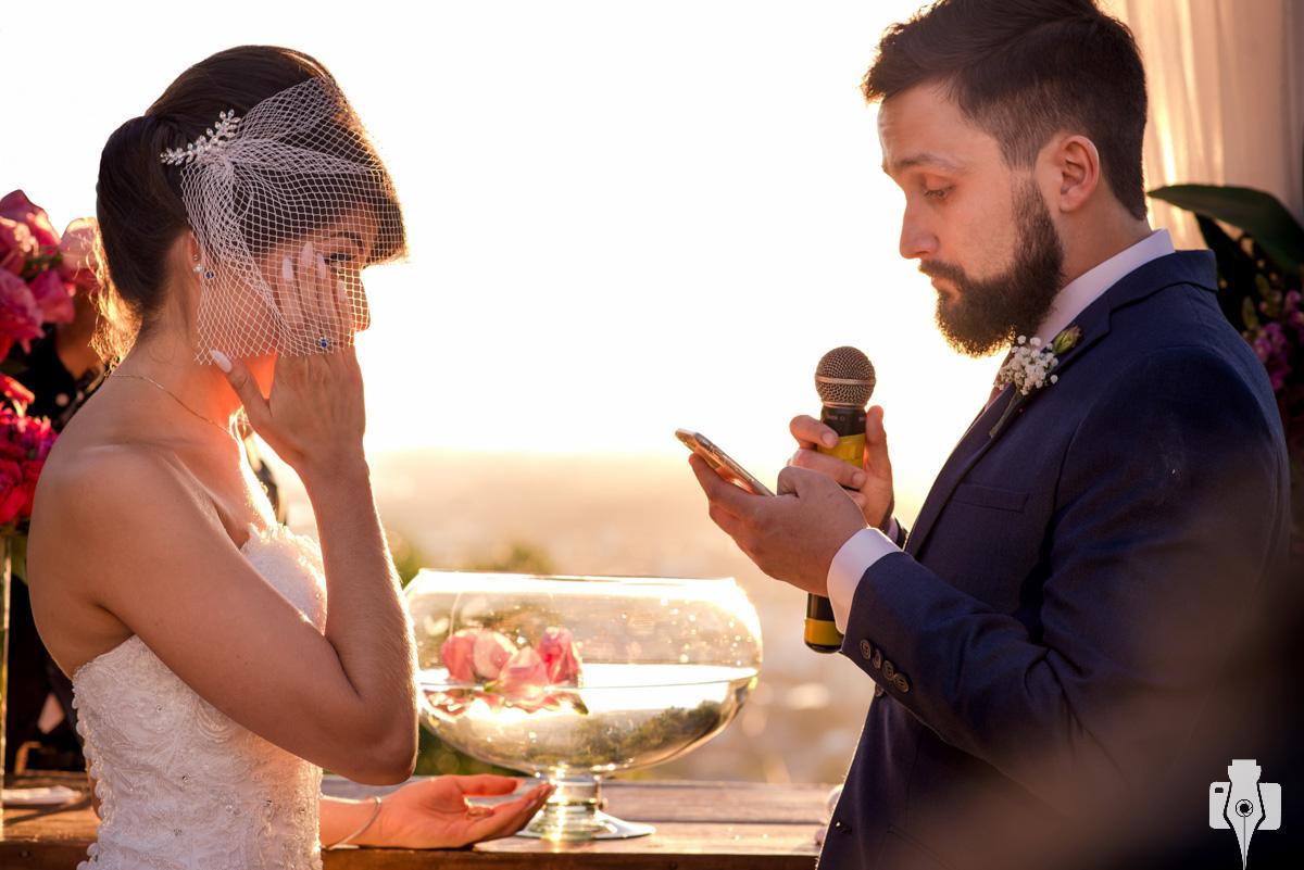 fotos de casamento com por do sol