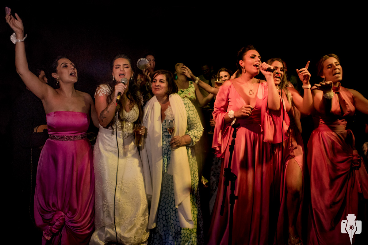 festa de casamento com musica ao vivo