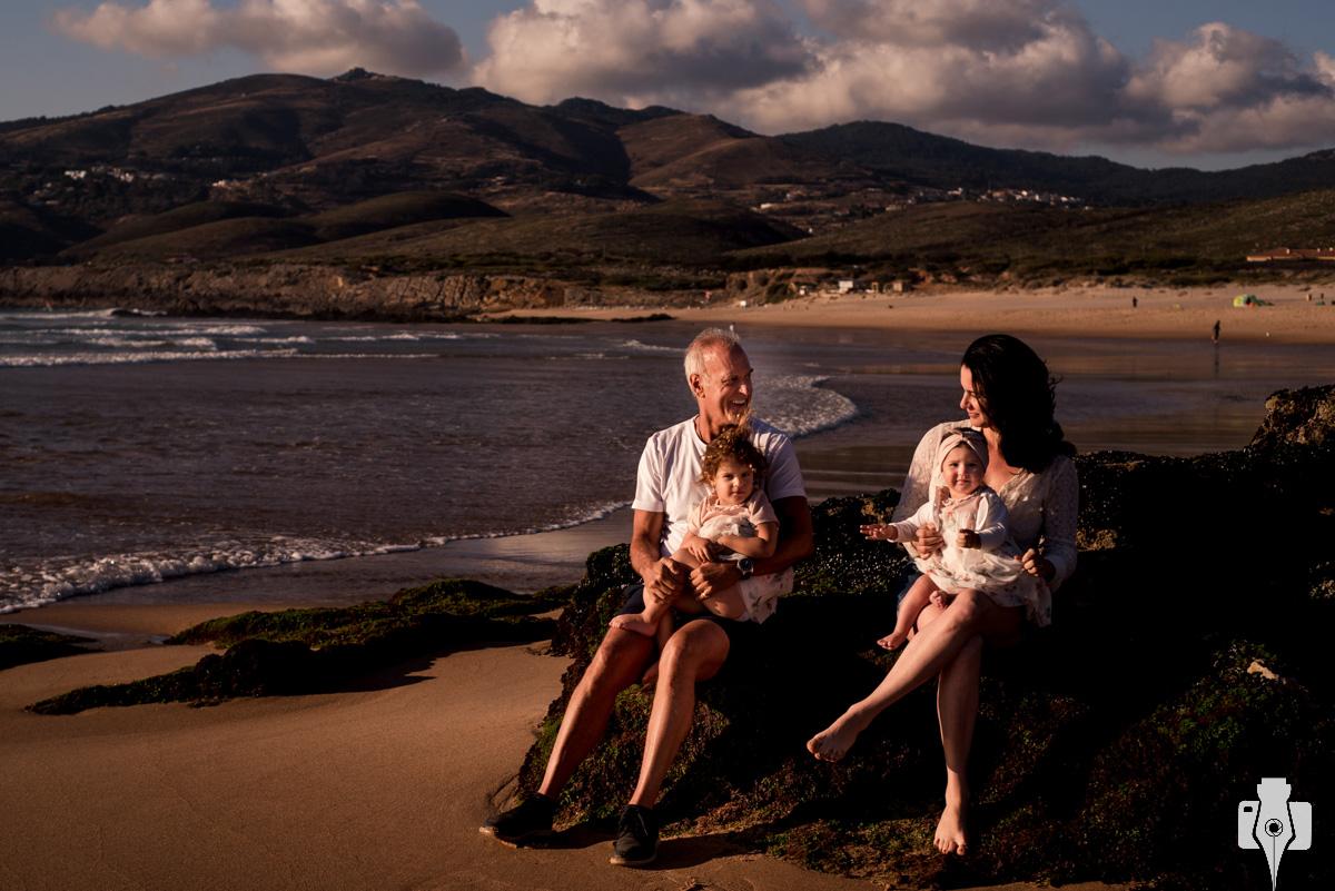 fotografia de familia na praia
