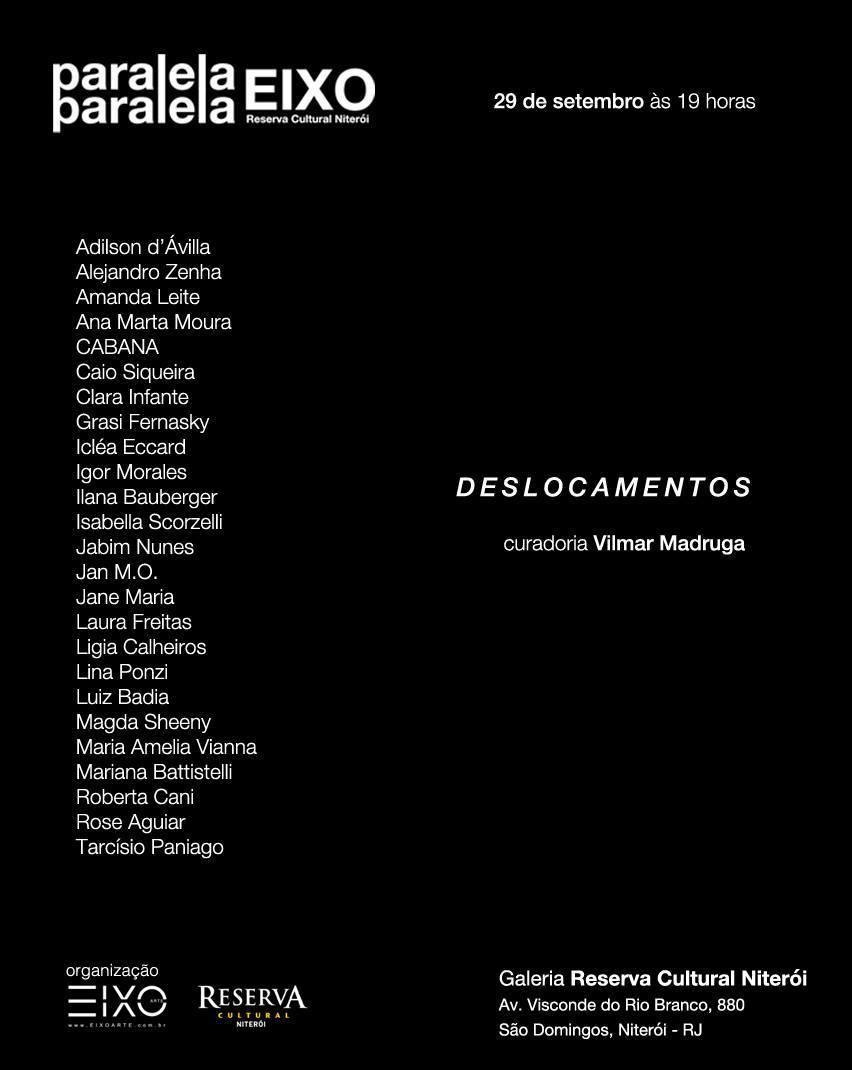 Imagem capa - Exposição Deslocamentos - Paralelo Eixo Arte por ISABELLA BERNSTEIN SCORZELLI
