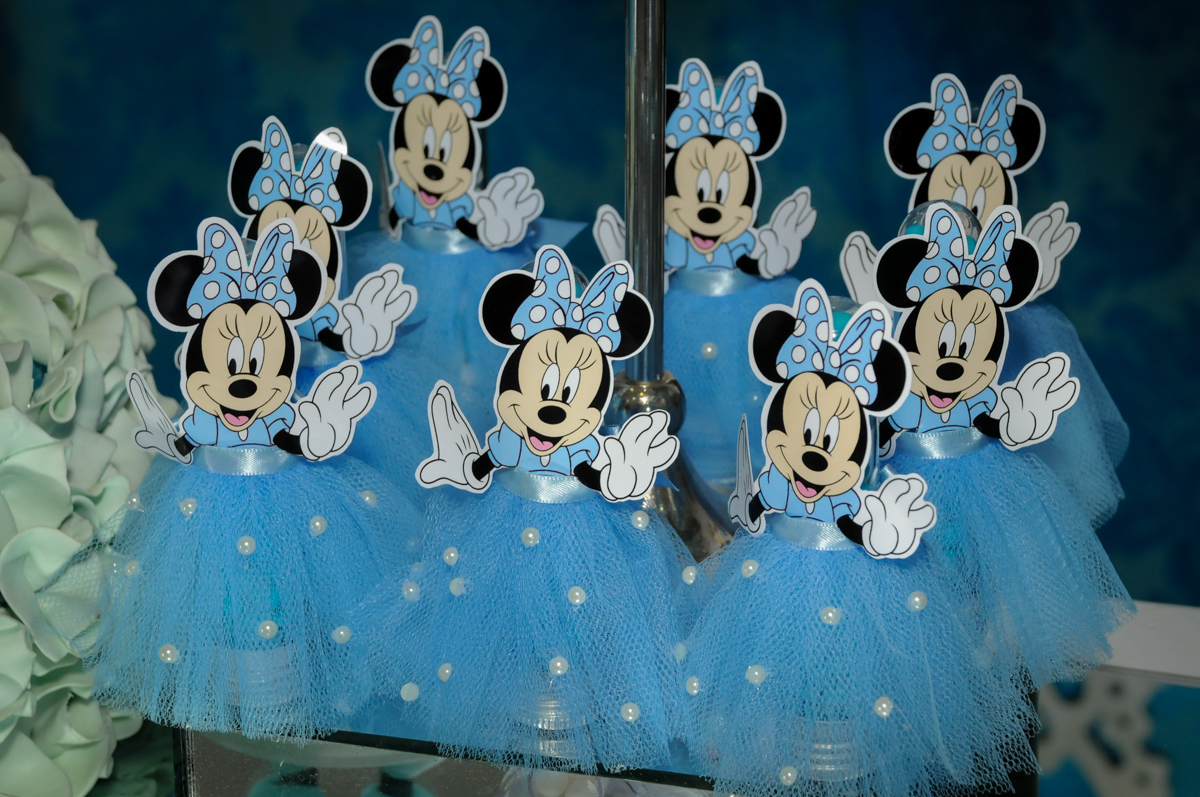 lembrançinha minie azul no Buffet Fábrica da Alegria, Morumbi, SP, festa intantil, tema da mesa minie azul, Valentina 1 aninho