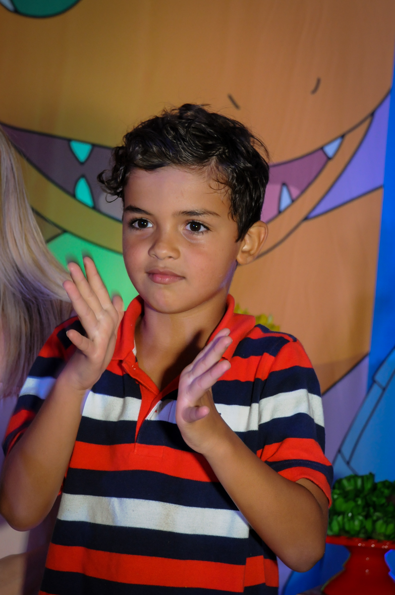 cantando parabéns no Buffet Fantastic World, Morumbi São Paulo, Festa Infantil, aniversário de Jean Gabriel 8 anos, tema da festa Poke Mon