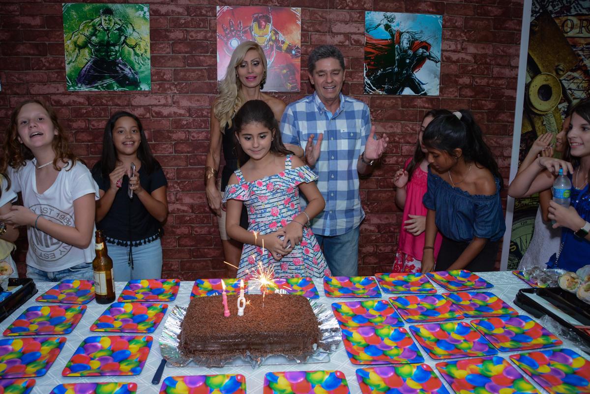 hora de cantar parabêns no Escape Home, Alphaville, São Paulo, Luana 10 anos