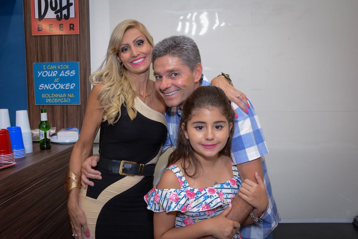 Fotografia da família no Escape Home, Alphaville, São Paulo, Luana 10 anos