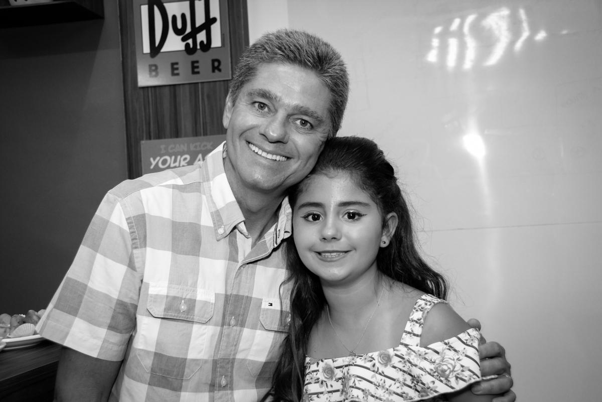 fotografia pai e filha no Escape Home, Alphaville, São Paulo, Luana 10 anos