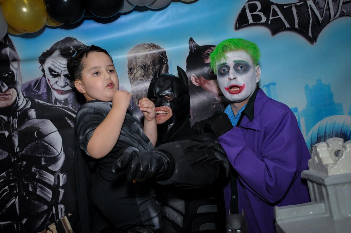 Final de festa no Buffet Fábrica da Alegria, festa Infantil, aniversário de Gregório 5 anos, tema da festa Batman