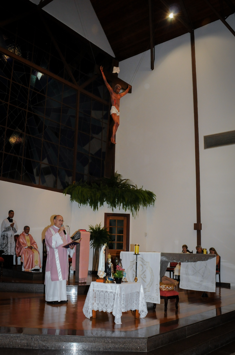 missa no Condomínio Alphaville, festa 15 anos Maria Eduard 15 anos