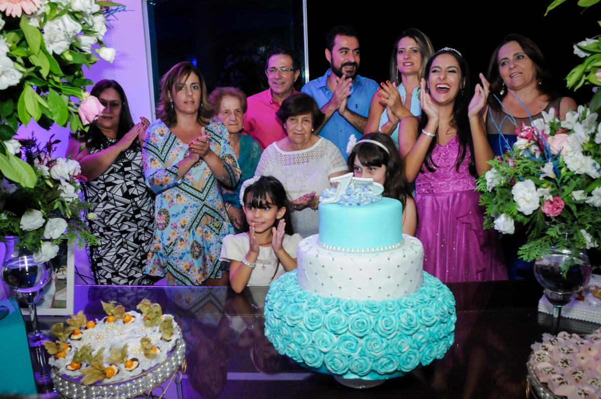 Hora de cantar o parabéns no Condomínio Alphaville, festa 15 anos Maria Eduard 15 anos