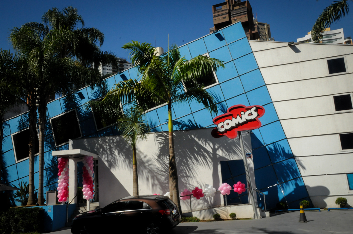 Buffet Comics, Morumbi, São Paulo, SP, aniversario de Giovanna 1 aninho, tema da festa, minie rosa