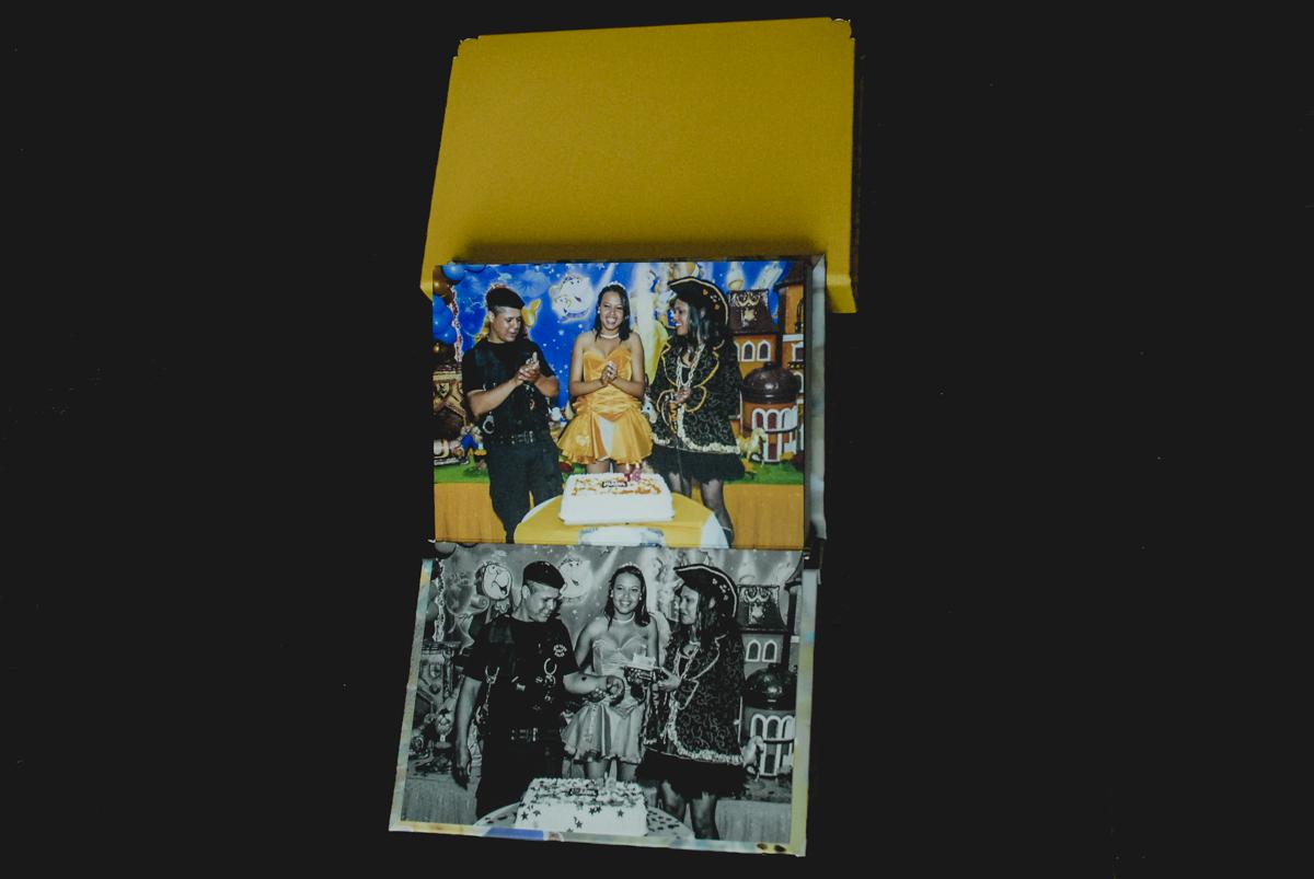 álbum fotográfico, álbum de festa infantil, álbum de batizado, álbum temático