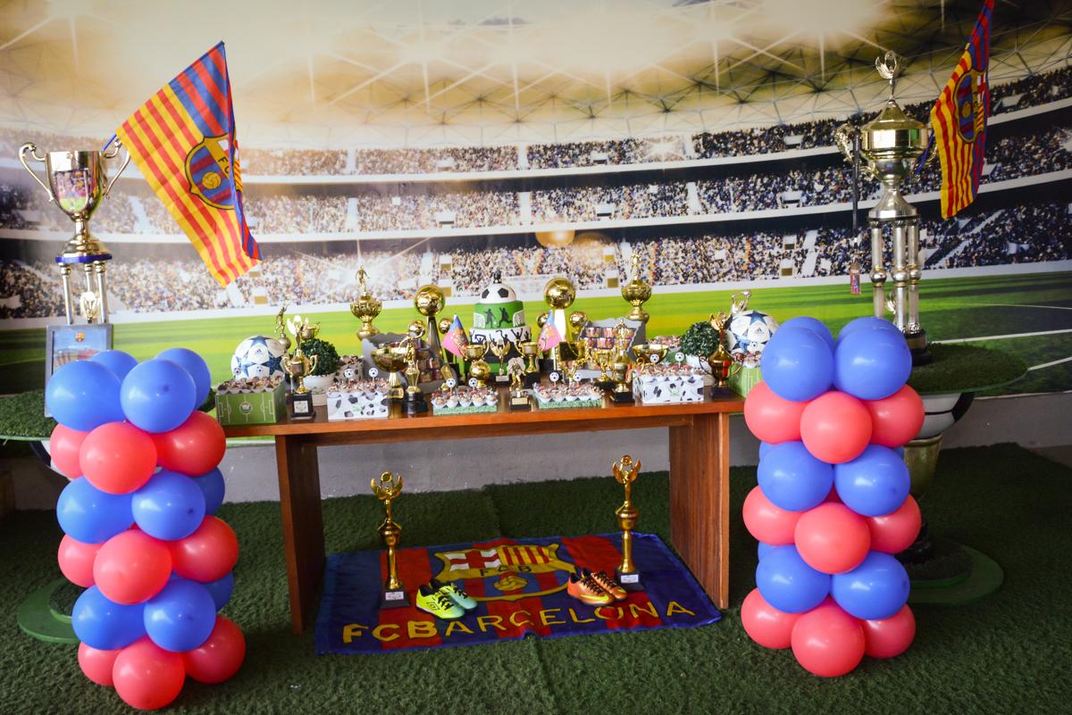 Buffet High Soccer, Morumbi, São Paulo aniversário de Rafael e João 6 anos tema da festa futebol