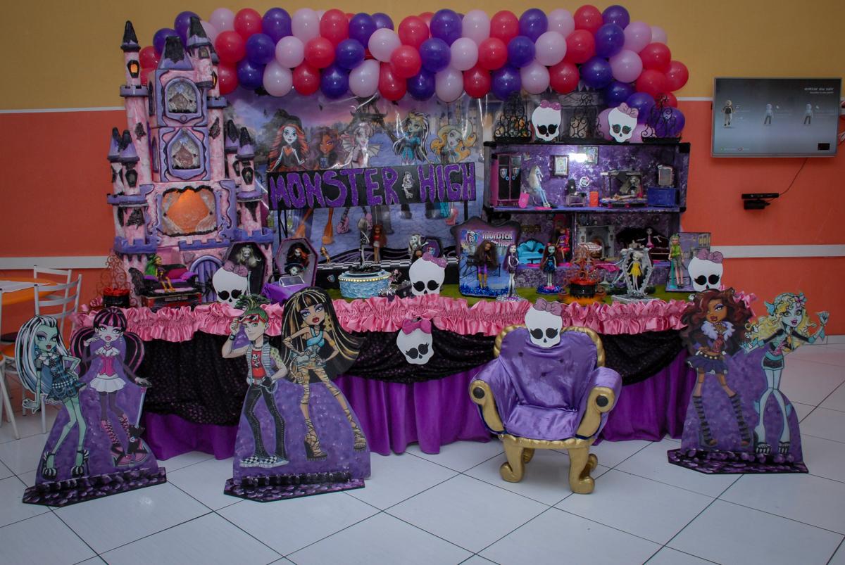 Buffet Gato Sapeka II, Osasco, São Paulo, aniversario de sophia 6 anos tema da feta monster high