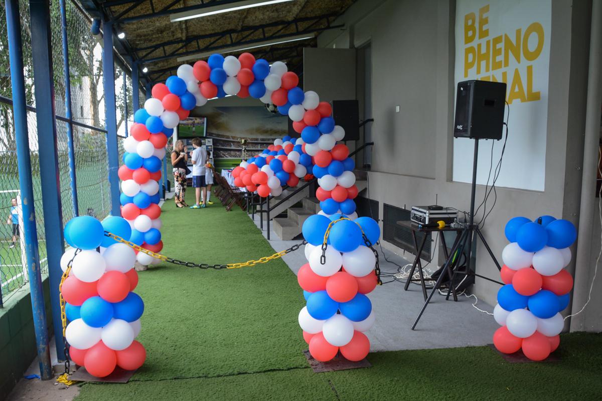 Buffet High Soccer, aniversário de Daniel 9 anos, tema da festa futebol, time Barcelona