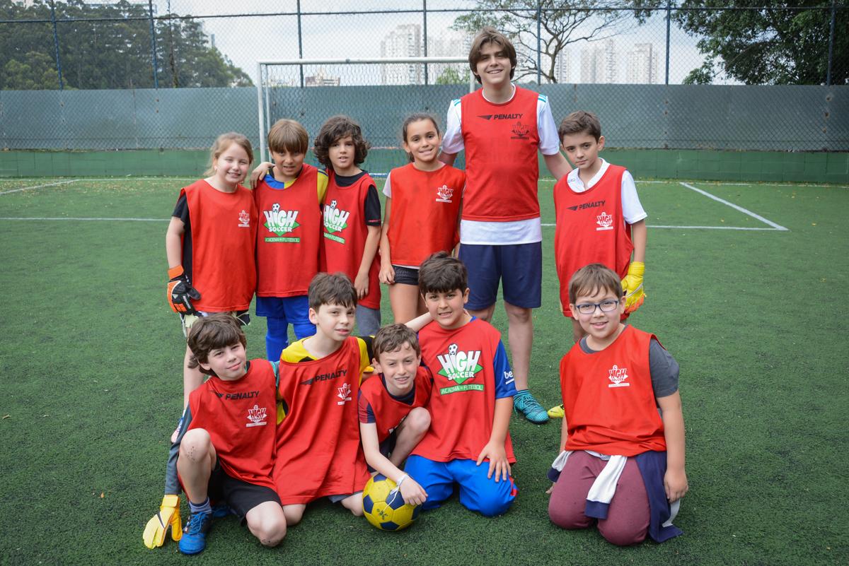 foto do time adversário no Buffet High Soccer, aniversário de Daniel 9 anos, tema da festa futebol, time Barcelona
