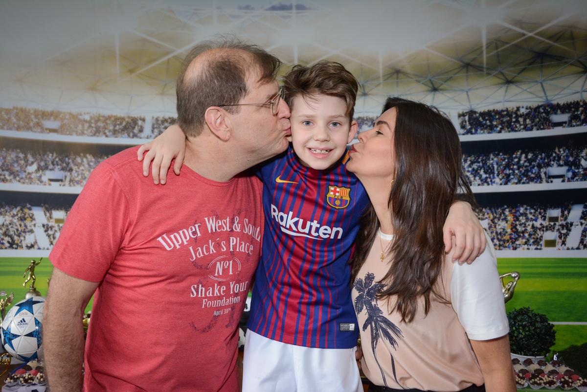 beijinho sanduiche no Buffet High Soccer, aniversário de Daniel 9 anos, tema da festa futebol, time Barcelona