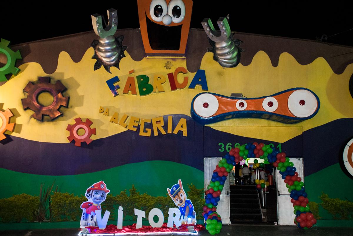Buffet Fábrica da Alegria, Osasco,São Paulo, aniversário de Vitor 10 anos, tema da festa Patrulha Canina