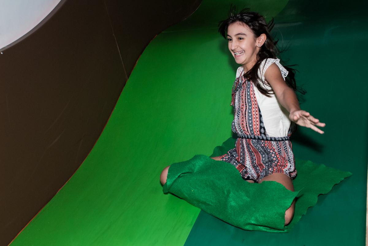 tobogã animado no Buffet Espaço Viva, Alto de Pinheiros, São Paulo, aniversário de Marina6 anos, tema da festa Bailarina
