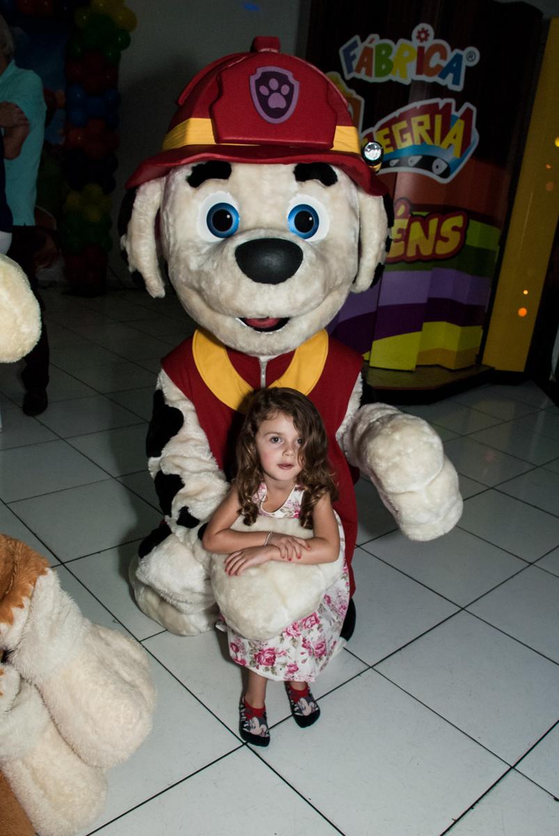 final da festa no Buffet Fábrica da Alegria Morumbi, São Paulo, aniversário de Isabela 4 anos, tema da festa Patrulha Canina
