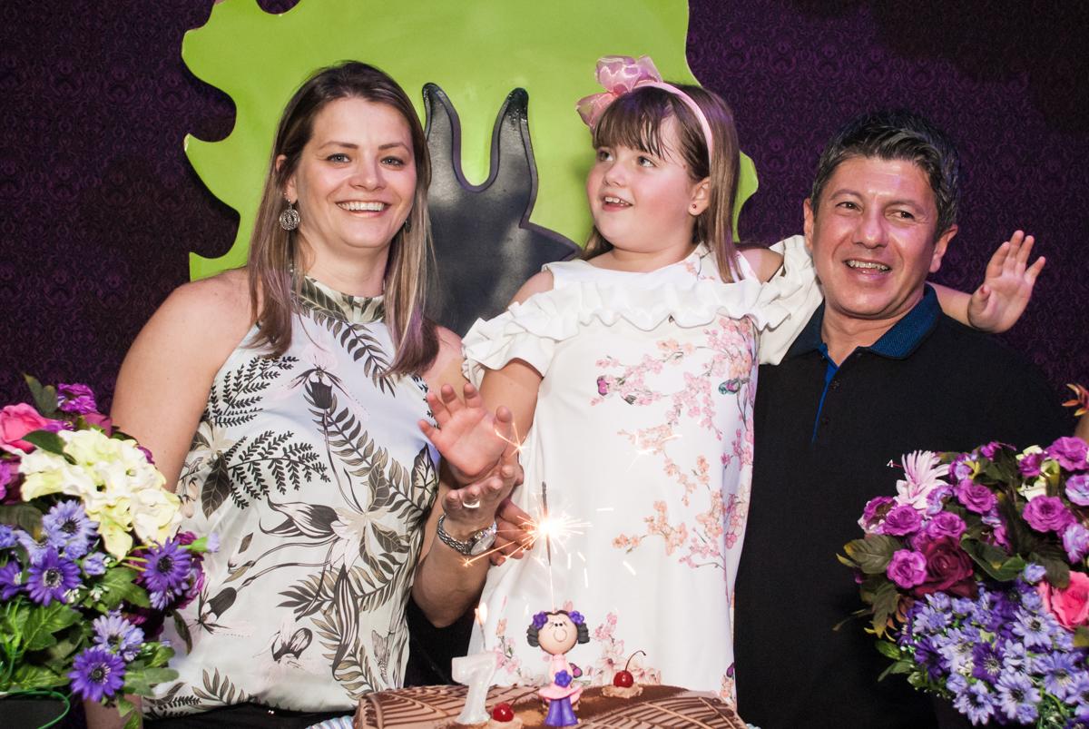 parabéns animado no Buffet Casa X, Vila Leopoldina, aniversário de Sophia 7 anos, tema da festa Descendentes