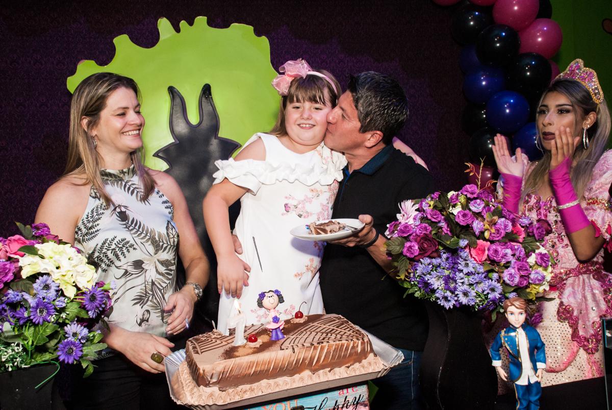 beijo do papai no Buffet Casa X, Vila Leopoldina, aniversário de Sophia 7 anos, tema da festa Descendentes