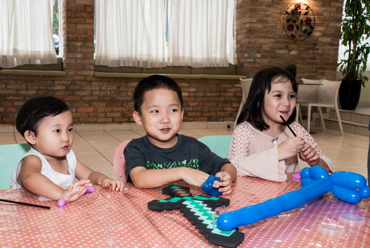 sorriso maroto no Buffet Vila Party, Moema, São Paulo, aniversario de Eduardo 6 anos, tema da festa Mini Craft
