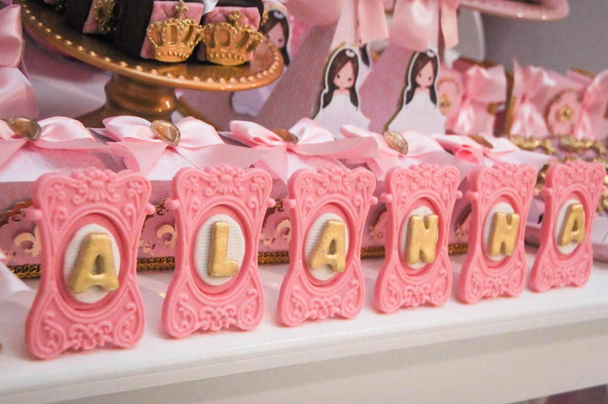 mesa decorada no Buffet Fabrica da Alegria, Osasco, São Paulo, aniversário de Alanna 5 anos, tema da festa bonecas princesas