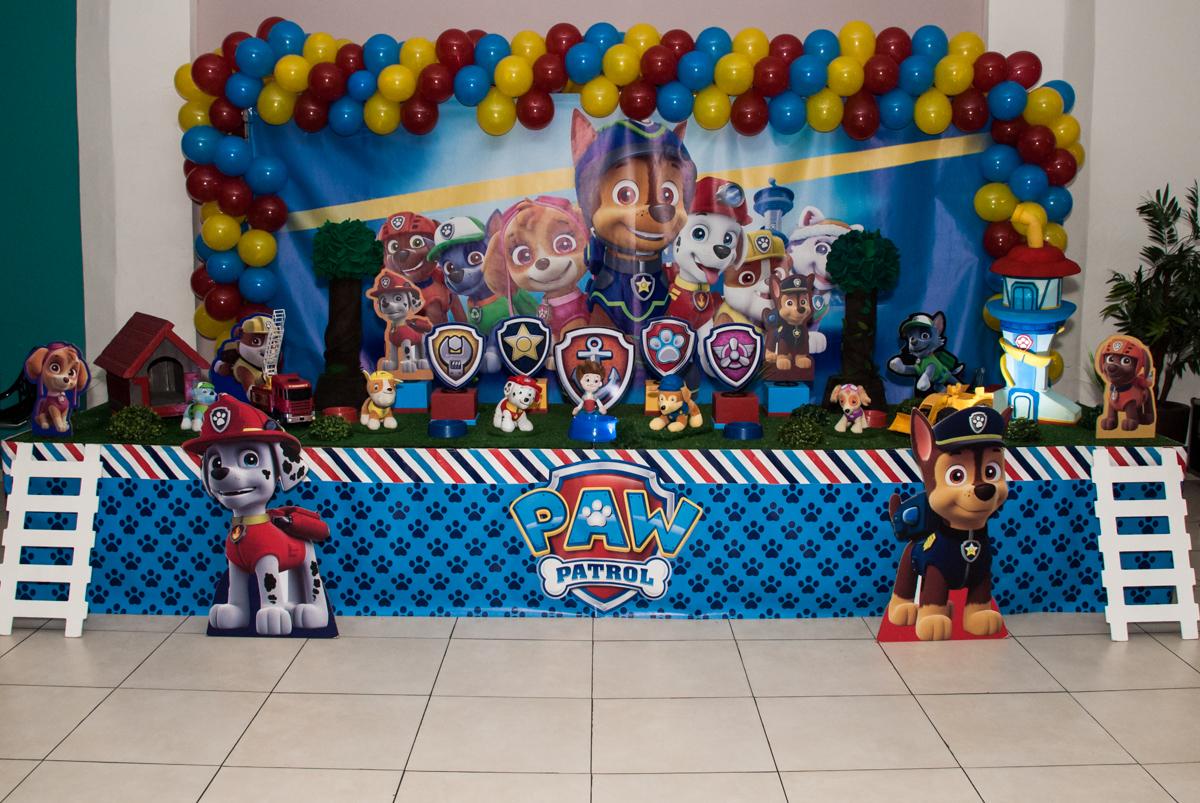 Buffet Mega Boom, Santana, São Paulo, aniversário Théo 4 anos tema da festa Patrulha Canina