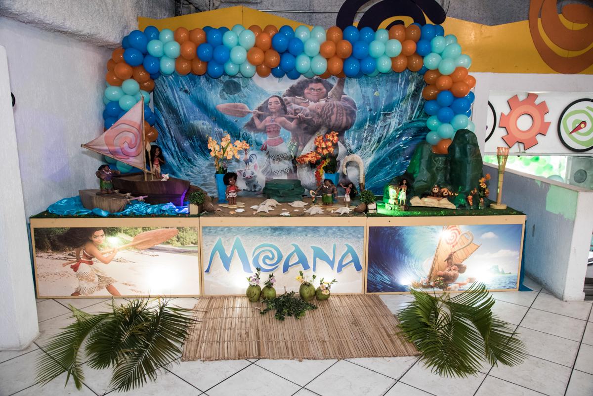 Buffet Fabrica da Alegria, Osaco, São Paulo, aniversário de Rafaela 5 anos tema da festa Moana