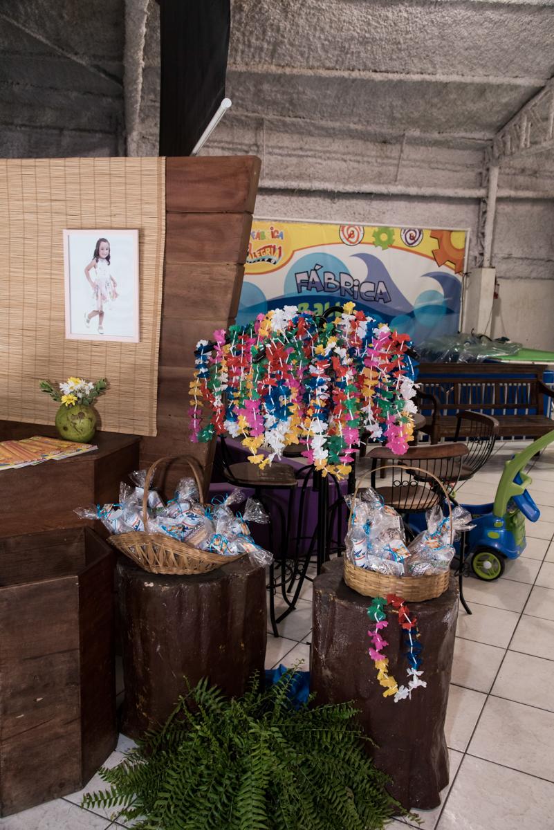 iténs para a balada no Buffet Fabrica da Alegria, Osaco, São Paulo, aniversário de Rafaela 5 anos tema da festa Moana