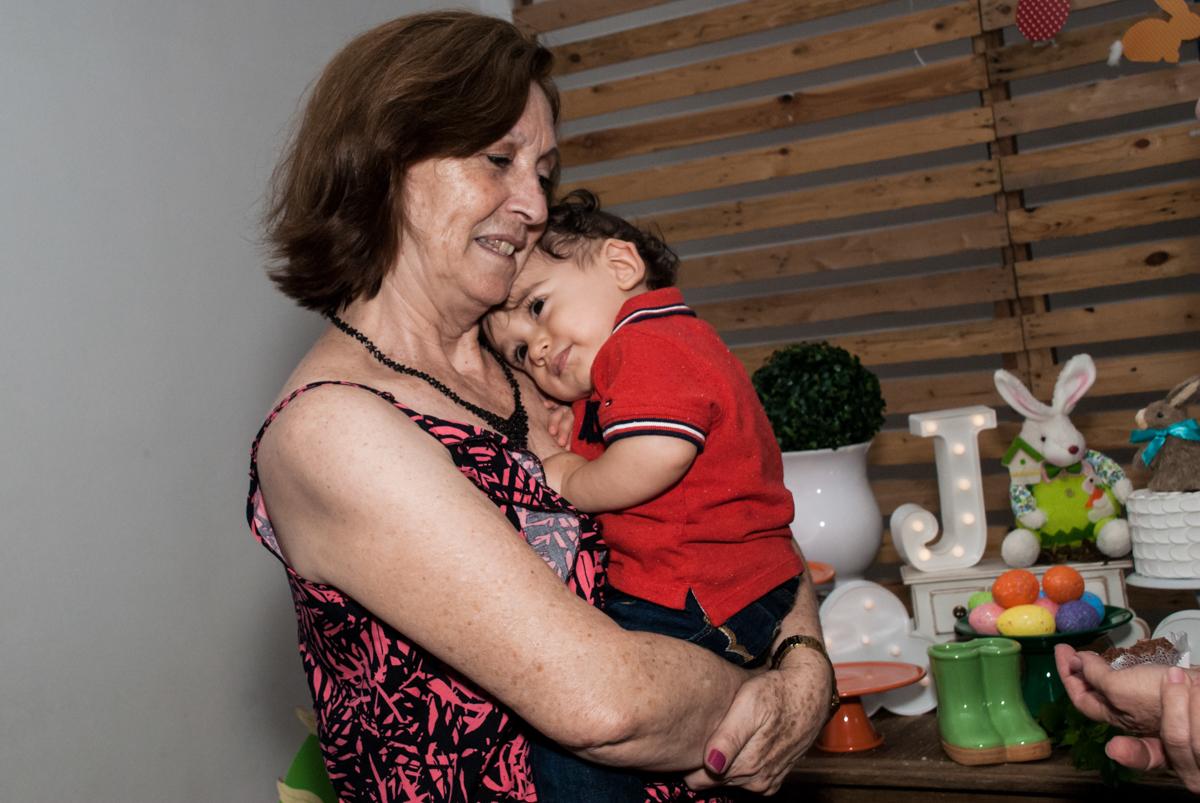 colo da vovó no Buffet Grand Kid's, Cotia São Paulo, aniversário de Joseph 1 ano, tema da festa páscoa