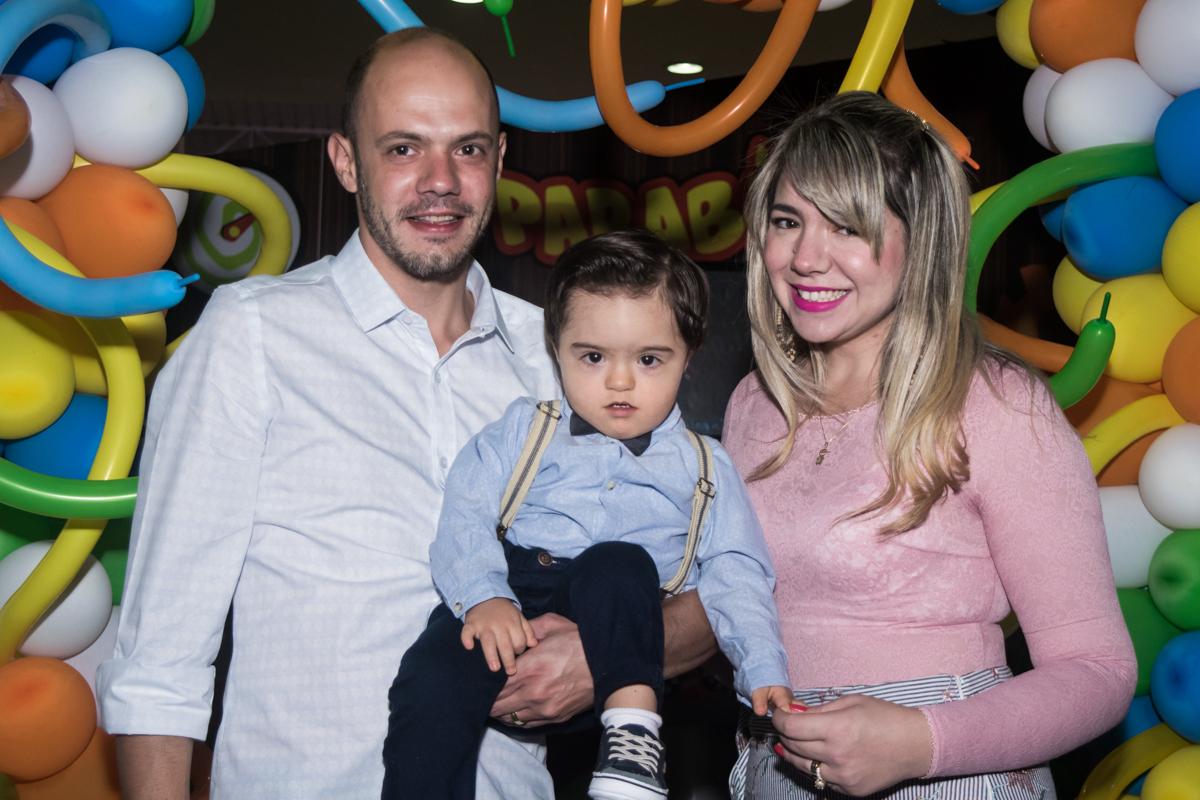 foto do aniversariante com os pais
