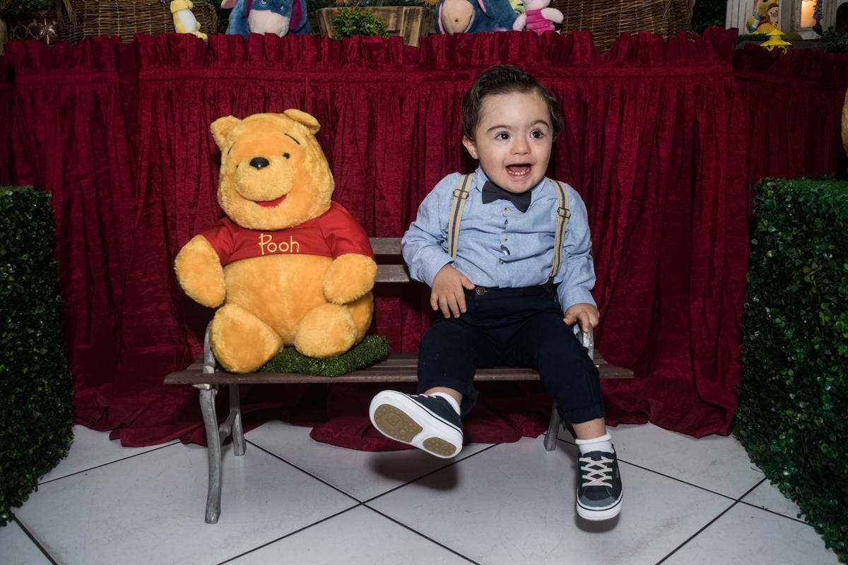 fotografia com o Ursinho Pooh