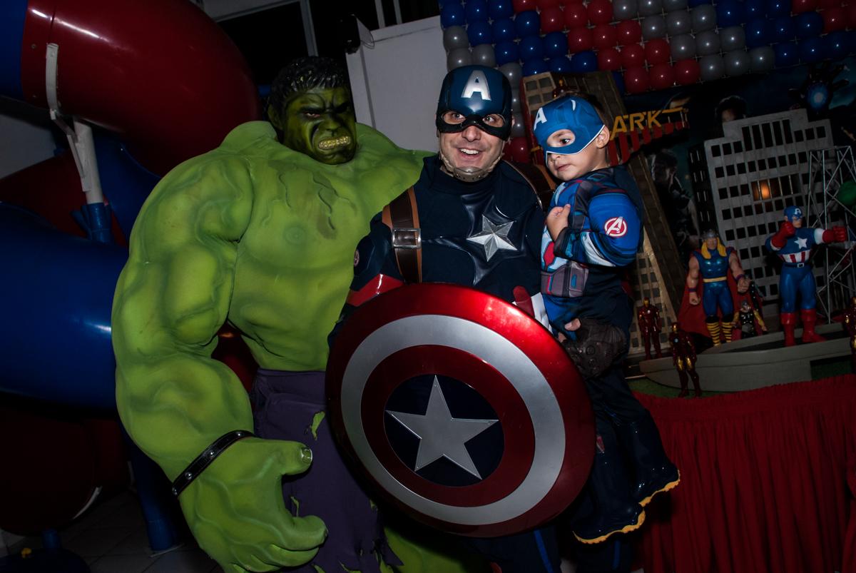 foto com os super herois