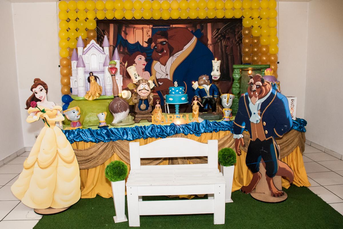 Buffet Mundo da Lua, aniversário de Isabella 8 anos, tema da festa A Bela e a Fera