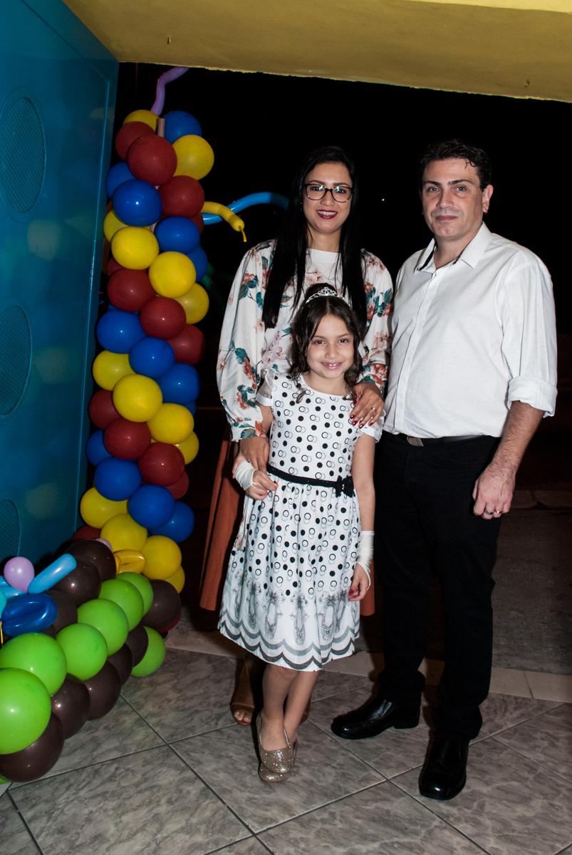 entrada da família para a festa