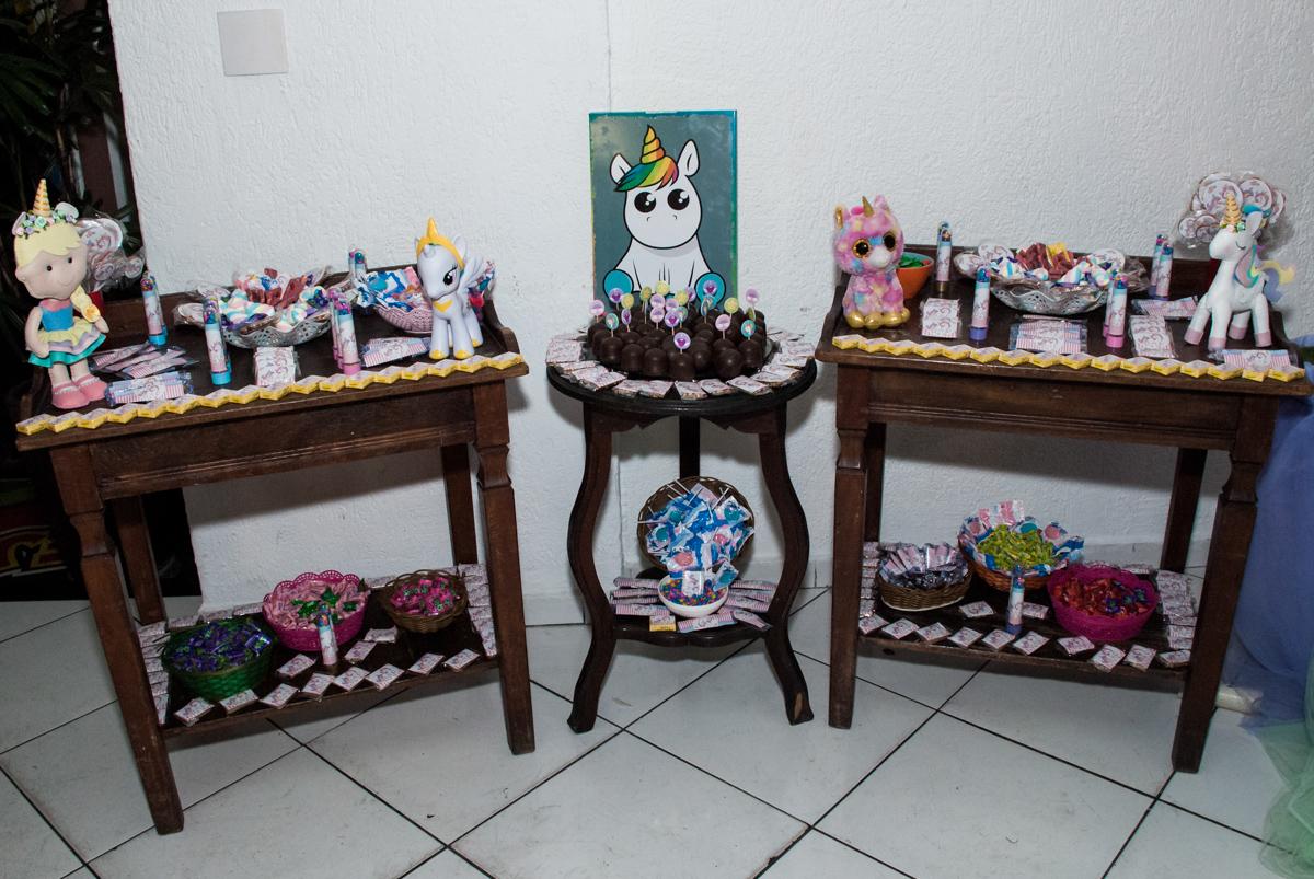 mesa de guloseimas