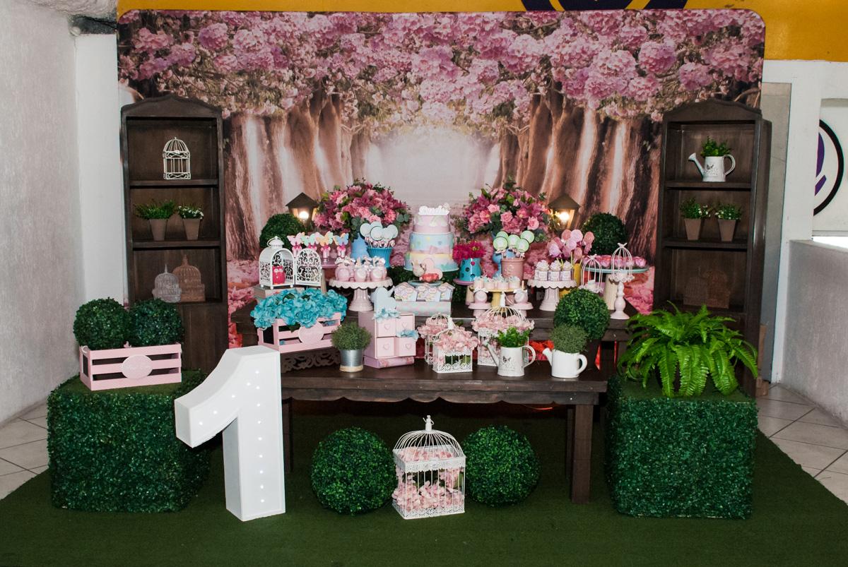 mesa temática tema jardim encantado