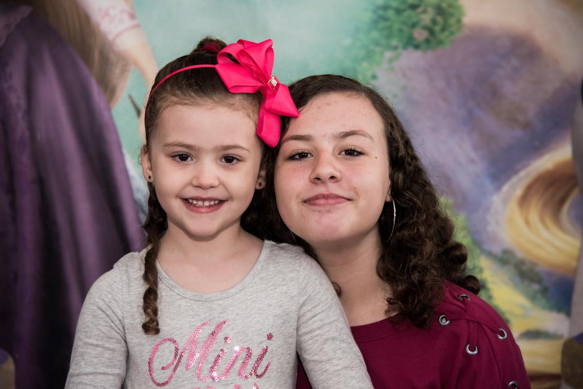 fotografia com a irmã