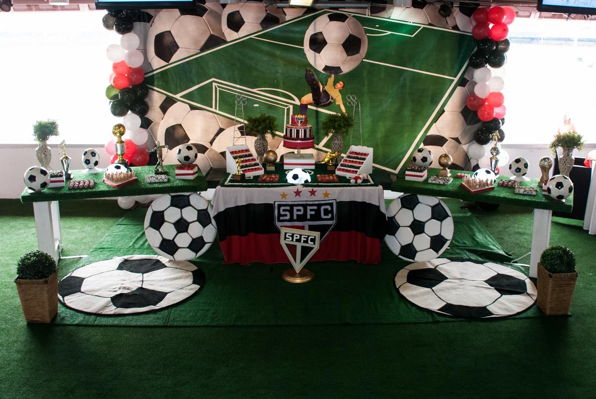 Tema da mesa são Paulo Futebol Clube