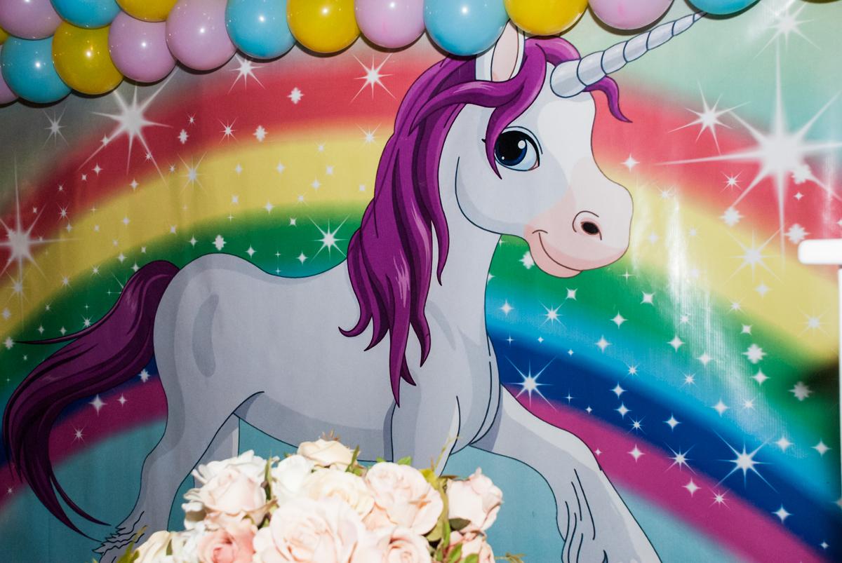 mesa temática unicornio