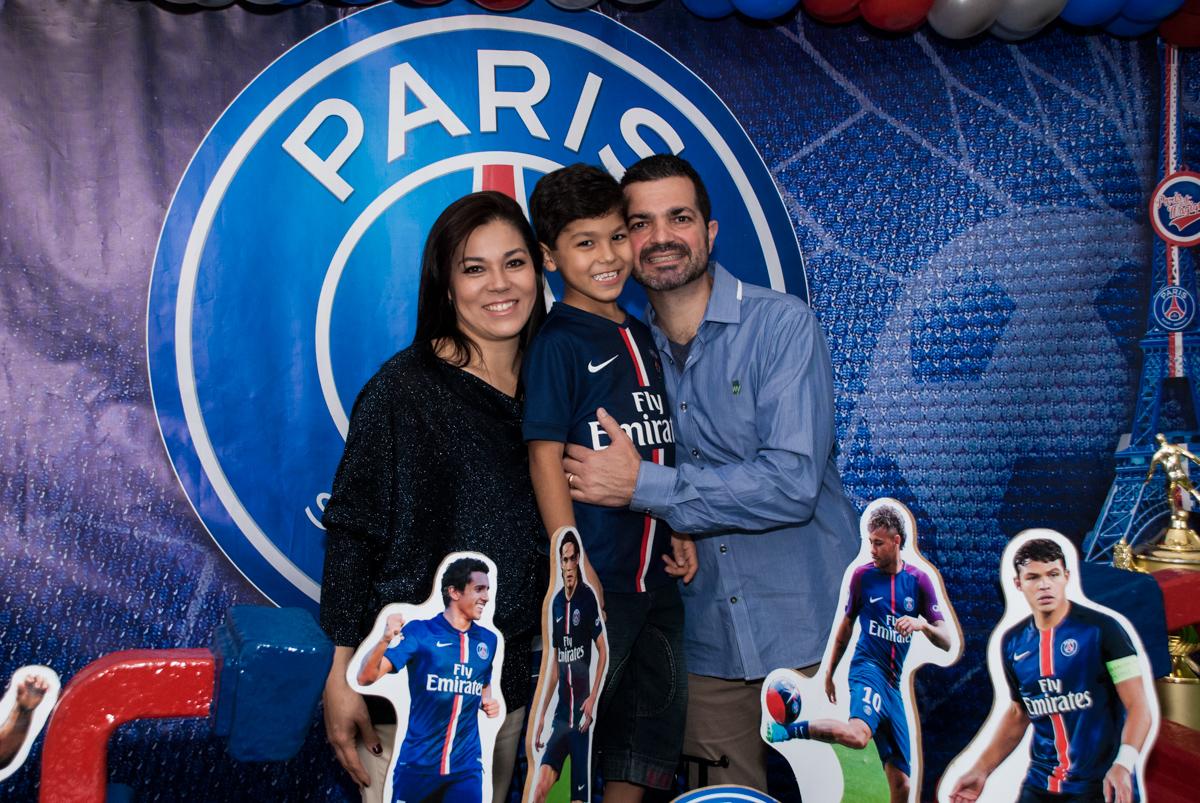 foto com os pais